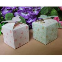 China Food Disposable Paper Box Packaging /  Bio - Degradable Corrugated Box For Candy wholesale