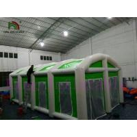China Green / White Waterproof PVC Giant Inflatable Commercial Tent For Different Events wholesale