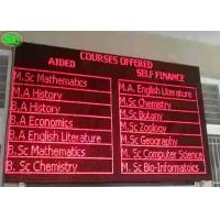 China P10 Waterproof  Single red color Led Advertising Display Screen, Led TV Screen wholesale