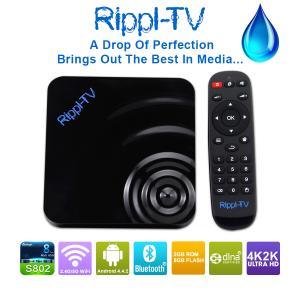 Rippl-TV Full HD Media Player 2GB RAM+8GB ROM Support Wifi XBMC Amlogic S802 Mali-450 Android 4.4 Quad Core TV Box