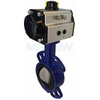 China Pneumatic Cylinder Operated Butterfly Valve, Metal Seated Butterfly Valve  Air Flow Control on sale