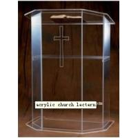 China Transparent Modern Acrylic Furniture Plexiglass Pulpit / Lectern / Podium wholesale
