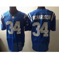 China Nike NFL Indianapolis Colts 34# trent richardson blue elite jersey wholesale