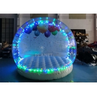China 3 Meter Dia Inflatable Snow Globe Photo Booth With Blowing wholesale