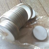 Buy cheap Round Piezoelectric Ceramic Materials Heat Resistant Customized In White Color from wholesalers