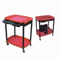 China Plastic 2-shelf Service Carts with Slide-out Tool Drawer wholesale