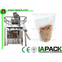 China Corn Flake Stand Pouch Packing Machine Stand-up Zipper Bag Packing machine Filling Range 5-1500g on sale
