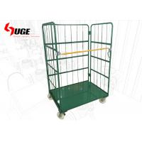 China Metallic Removable Foldable Roll Cage Trolley With Shelves For Warehouse on sale