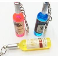 Quality beer bottle metal keychain for sale