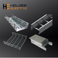 China Manufacturer Prices 200mm 300mm 600mm Metal Steel Straight Cable Tray For Cable Management on sale