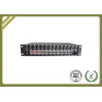 China 2U Rack Mount Fiber Optic Media Converter With 14 Slots For Standalone Type 10/100/1000M wholesale