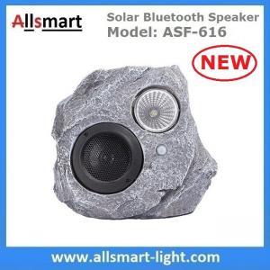 China Solar Bluetooth Speaker Resin Stone loudspeaker Lamp PIR Motion Sensor Lighting for Outdoor Garden Patio Backyard Park wholesale