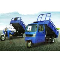 China Gasoline Cargo Tricycle Dump Truck For Transportation Closed Cabin Hydraulic Dumper Auto Unload on sale