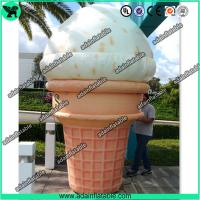 China 3m Woderful Decorative Inflatable Model , PVC Inflatable Ice Cream Cone wholesale