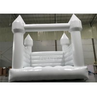Buy cheap Commercial White Inflatable Slide Bouncer Jumping Castle For Party from wholesalers