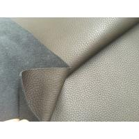 China Dark Brown 50% Recycled Genuine Leather Fabric 1.2mm - 1.4mm Thickness wholesale
