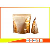 China Custom Gold Coffee Bean Packaging , Stand Up Packaging Pouch Bag With Valve wholesale