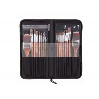 China Nylon Hair Wooden Handle Body Paint Brushes16pcs Set High Quality Painting Brushes Set wholesale