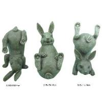 China Set of 3 Home Decoration Polyresin Rabbit Figurine (1102001) wholesale
