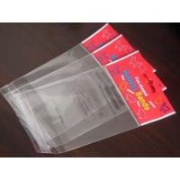 Quality One Side Cellophane BOPP OPP Bags Self Adhesive Seal With Hang Hole for sale