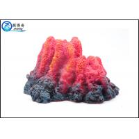 China Aquarium Fish Aquarium Ornaments , Underwater Erupting Bubbler Volcano Air Operated Craft wholesale