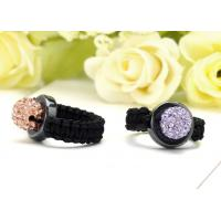 China Customized Crystal Wedding Rings Beaded Mens Jewelry on sale