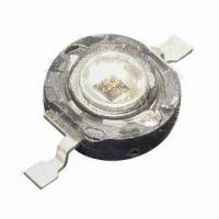 China High-power SMD LEDs in 1W Series, with Infrared Emitting Color and Water Clear Lens Color wholesale