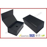 China Black High End Embossed Paper Boxes Magnetic E-Cigar Packaging wholesale