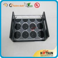 Quality China factory wholesale black or clear colored acrylic shot glass serving holder tray for sale