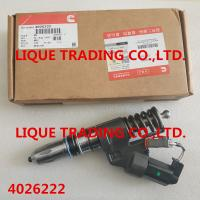 China CUMMINS INJECTOR 4026222 Genuine and original Fuel Common Rail Injector 4026222 on sale