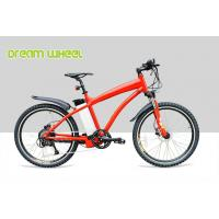 China Red Pedal Assist  high end Electric Mountain Bikes 48V 500W Gear Motor Cruiser Bicycle wholesale