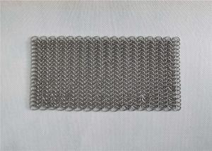 China 8x8 Inch Stainless Steel Cast Iron Pan Cleaner Chainmail Scrubbers wholesale