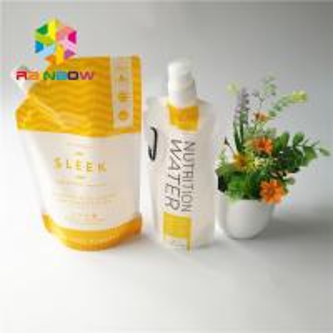 China 5oz/7oz Plastic Spout Pouch Packaging Transparent Energy Drink Bag Recyclable wholesale