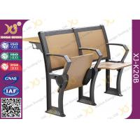 Buy cheap Gravity Return Finished Black Epoxy Powder Lecture Hall Seats With Writing Board from wholesalers