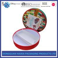 China Round Custom Printed Cardboard Boxes , Printed Packaging Boxes UV Coating on sale