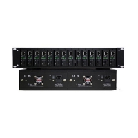 Buy cheap TS-2U14R Series 19 Inch Fiber Transceiver Frame Power Protection from wholesalers