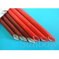 China Brown Color 12mm Electrical Wire Fiberglass Insulation Sleeving on sale