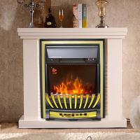 China insert freestanding electric fireplace Heater stove NDY-19FR-E chimenea Silver remote control flame effect room heater wholesale