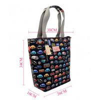 China Lightweight Printed Reusable Shopping Bags , Car Pattern Reusable Lunch Bags wholesale
