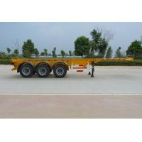 China 40 Feet Container Carrying Flat Bed Semi Trailer With 28ton JOST Landing Leg wholesale