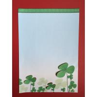 China White Color Printed Stationery Paper , Three Dimensional Clover Letterhead Paper wholesale
