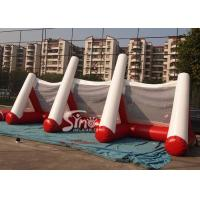 China Customized outdoor N indoor inflatable football goal for soccer free kick games on sale