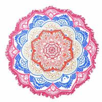 Quality Indian Mandala Beach Towel Large Lotus Printing Towel Beach Round Pool Home Shower Towel Blanket 150Cm for sale