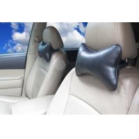 Buy cheap hot sell dog bone shape PU leather black color car truck neck pillow from wholesalers