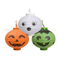 China Patterned Printed Round Paper Lanterns For Party , Halloween Decoration Customized Traditional wholesale