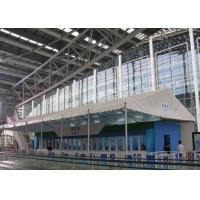China Double Coated PVC Fabric White Canopy Tent Waterproof 100km/H For Canton Fair wholesale