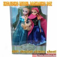2PCS/Lot Hot Sell Princess 11.5 Inch toys Elsa and Anna Good Girl Gifts toys Doll 12 Joint