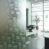 Buy cheap Modern Opaque Decorative Glass Etched Frosted Glass Partitions For Shower Room from wholesalers