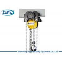China KACC Manual Chain Hoist Lever Block 10m Lifting Height With Monorail Trolley wholesale