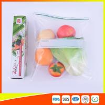 China Custom Freezer Zip Lock Bags Anti Moisture , Resealable Zipper Food Storage Bags wholesale